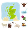country scotland cartoon icons in set collection vector image vector image