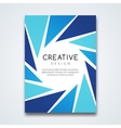 Cover report colorful triangle geometric vector image vector image