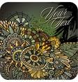 Decorative floral card design vector image vector image