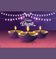 diwali vassels lits with bulbs decorations vector image
