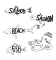 drawing fish vector image vector image