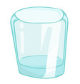 empty glass isolated vector image vector image