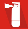 fire extinguisher icon with long shadow flat vector image vector image