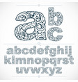 floral alphabet sans serif letters drawn using vector image