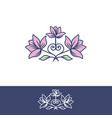 flower flat for logo vector image vector image