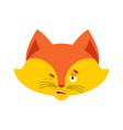 fox winks emoji wild beast happy emotion she-fox vector image vector image