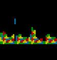 game tetris pixel bricks colorfull game vector image vector image