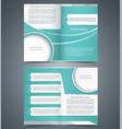 green bifold brochure template design vector image vector image