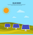 green energy background with solar panels vector image vector image
