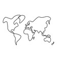 hand-drawn map of world solid thick black vector image
