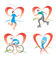 Icons I love fitness vector image