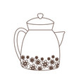 kettle maker coffee or tea isolated icon white vector image