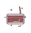 keyboard icon design vector image vector image