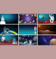 large set space scenes vector image vector image