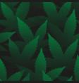 marijuana leaves seamless pattern pointillism art vector image