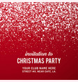 merry christmas party invitation background vector image vector image
