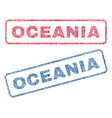 oceania textile stamps vector image vector image