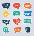 paper speech bubble with short messages thank you vector image vector image