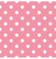 Pink polka dot seamless pattern design vector image vector image