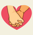pinky promise hands in heart shape vector image vector image