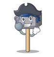 pirate character of metallic meat tenderizer vector image vector image