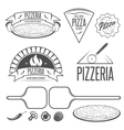 Pizza labels badges and design elements Vintage vector image