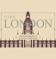 postcard or banner with words i love london vector image vector image