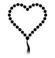 prayer beads folded in shape a heart vector image