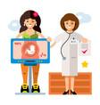 pregnancy diagnostics sonography flat vector image vector image