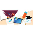 qatar education school university concept with vector image vector image