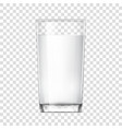 realistic glass cup with milk vector image vector image