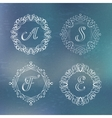 round calligraphic frame vector image