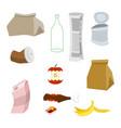 rubbish icon collection garbage set trash sign vector image vector image