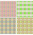Seamless geometric abstract pattern set for fabric vector image vector image