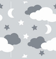 seamless pattern with sky elements in line art vector image