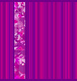 seamless vertical lines pattern pink vector image vector image