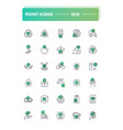 set of 30 line icons eco vector image vector image