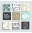 Set of 9 creative pastel color cards vector image