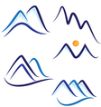 Set of stylized mountains logo vector image vector image