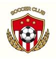 Soccer club emblem vector image vector image