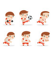 soccer team players football sport game players vector image