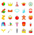 solemn icons set cartoon style vector image vector image