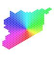 spectrum hexagon syria map vector image