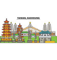 taiwan kaohsiung city skyline architecture vector image vector image