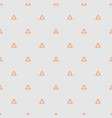 tile pattern with orange triangles on grey vector image vector image