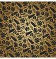 Tropical leavesbranches pattern backdropGold vector image