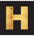 Uppercase letter H of the English alphabet vector image vector image