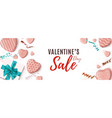 valentines day sale horizontal banner abstract vector image