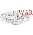 war word cloud concept vector image