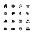web site internet icons black series vector image vector image